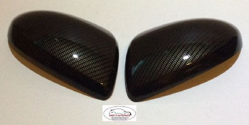MAZDA 2 WING MIRROR COVER 07-2015 PAIR CARBON FIBRE HYDRO-DIP
